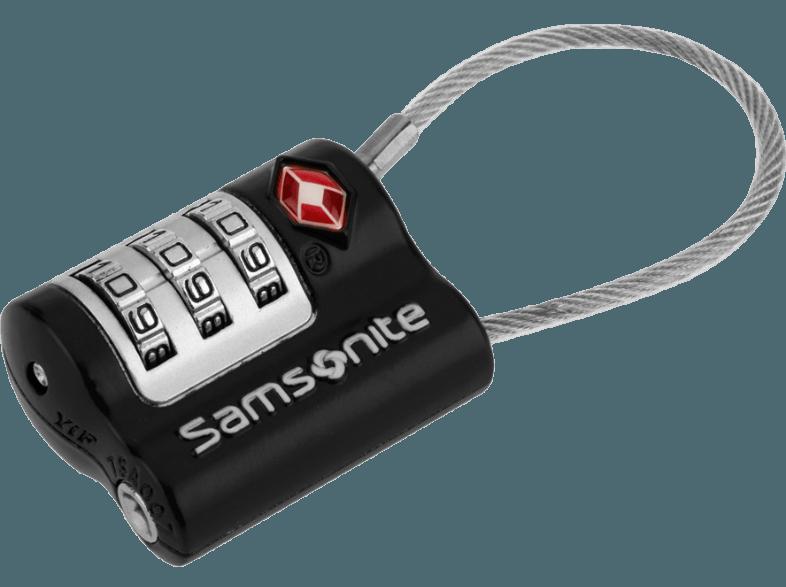 Safe Us Air Tr 3 Dial  Cablelock 2 Black - SAMSONITE