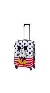 Spinner 65cm Mickey Blue Dots - AMERICAN TOURISTER