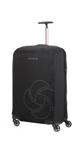 Foldable Luggage Cover M Black - SAMSONITE