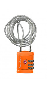 Long Cablelock TSA Orange - SAMSONITE