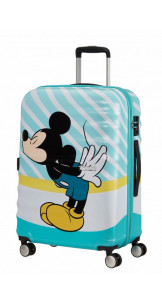 Spinner 67cm Mickey Blue Kiss - AMERICAN TOURISTER