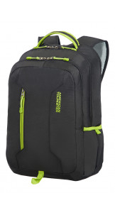 Laptop Backpack 39.6cm/15.6″ Black/Lime Green - AMERICAN TOURISTER