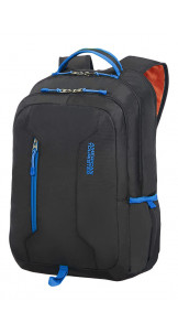 Laptop Backpack 39.6cm/15.6″ Black/Blue - AMERICAN TOURISTER