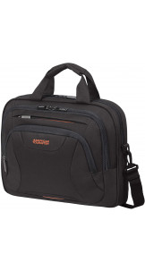 Laptop Bag 33.8-35.8cm/13.3-14.1″ Black / Orange - AMERICAN TOURISTER