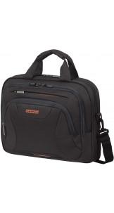 Laptop Bag 33.8-35.8cm/13.3-14.1″ Black / Orange - AMERICAN TOURISTER
