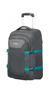 Backpack With Wheels 15.6'' Grey/Turquoise - American Tourister