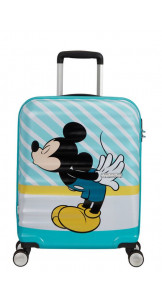 Spinner 55cm MICKEY BLUE KISS - AMERICAN TOURISTER