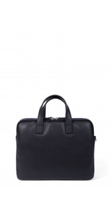 "Briefcase 13"" Black / Navy - HEXAGONA"