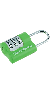 Triple 3 Combination Lock Green - SAMSONITE