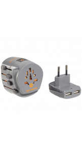 Adaptor Grounded & USB 2 Graphite - SAMSONITE